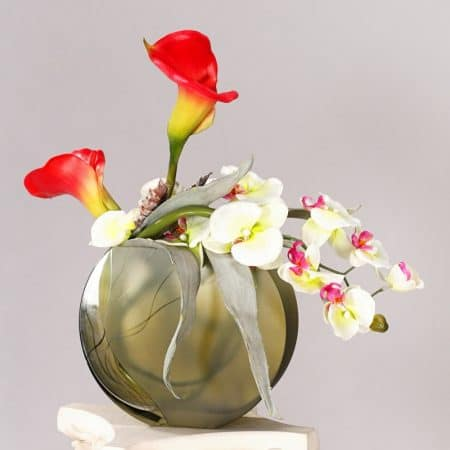 Calla Orchid Green Vase