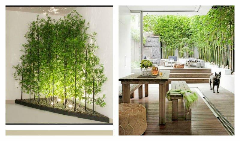 artificial bamboo wall screen