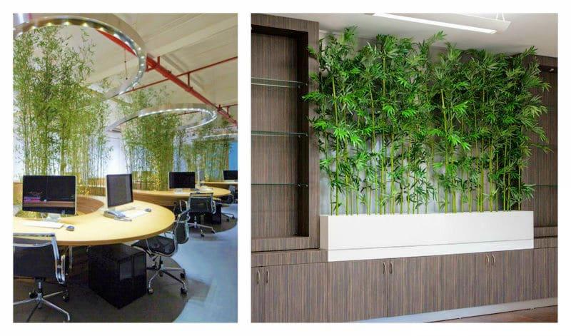 artificial bamboo office reception