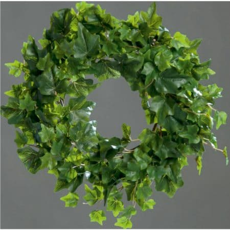 green ivy wreath 33 cm