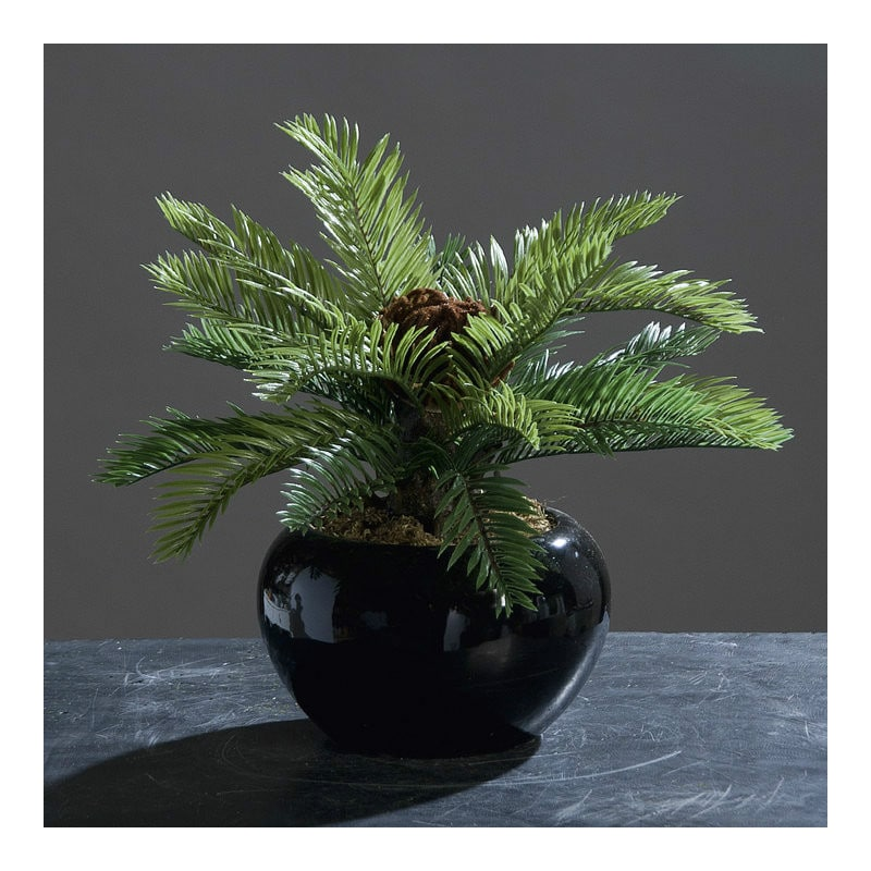artificial palm ceramic pot 27 cm artificial plant