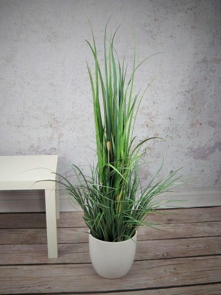 trend design artificial grass in pot hotel SPA