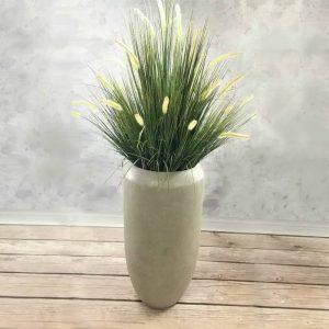 Grass Arrangement in Cigar Fiber Pot