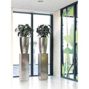 Silver Tall Vase Pandora 90cm