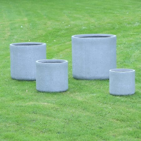 large roller fibre clay pots