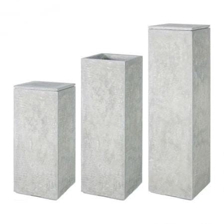 Division Plus Pedestal Pot natural cement 04