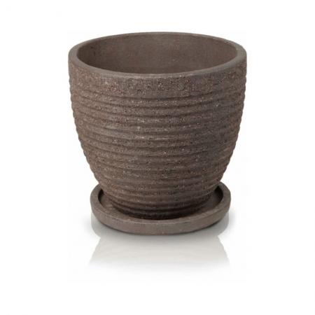 Venice pot with saucer