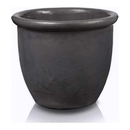 malaga round pot graphite 1